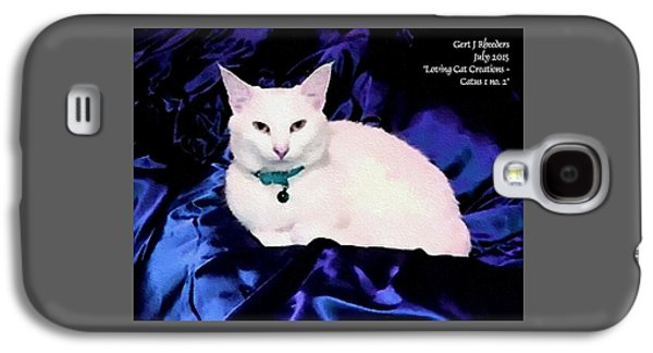 Abstract Digital Pastels Galaxy S4 Cases - Loving Cat Creations Catus 1 no. 2 H A Galaxy S4 Case by Gert J Rheeders