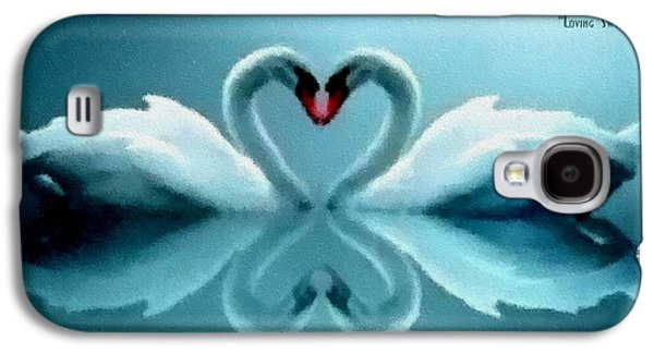 Abstract Digital Pastels Galaxy S4 Cases - Loving Swans H a Galaxy S4 Case by Gert J Rheeders