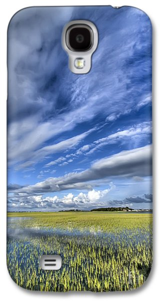 Floods Galaxy S4 Cases - Lowcountry Flood Tide and Clouds Galaxy S4 Case by Dustin K Ryan