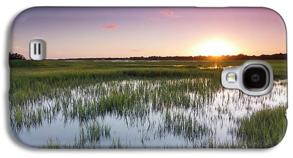 Floods Galaxy S4 Cases - Lowcountry Flood Tide Sunset Galaxy S4 Case by Dustin K Ryan
