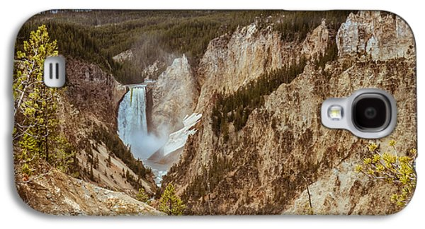 Haybale Galaxy S4 Cases - Lower Falls Framed Galaxy S4 Case by Robert Bales