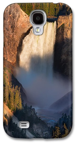 Hdr Landscape Galaxy S4 Cases - Lower Yellowstone Falls Galaxy S4 Case by Steve Gadomski