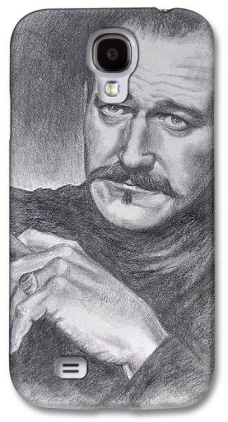 John Wayne Drawings Galaxy S4 Cases - Lt. Col. Yorke Galaxy S4 Case by Kim Lockman