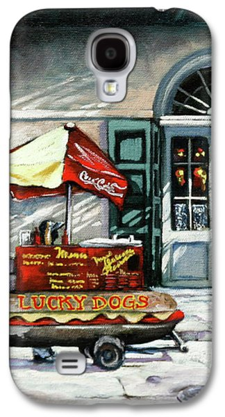 French Quarter Paintings Galaxy S4 Cases - Lucky Dogs Galaxy S4 Case by Dianne Parks