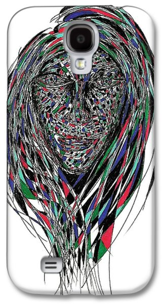Abstract Digital Drawings Galaxy S4 Cases - Lucy Galaxy S4 Case by AR Teeter
