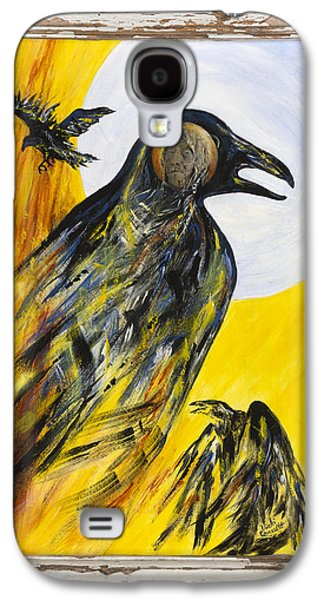 Caws Paintings Galaxy S4 Cases - Grandma Lucy Galaxy S4 Case by Vicki Caucutt