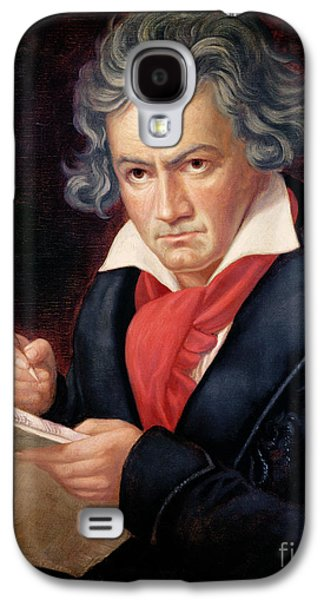 19th Galaxy S4 Cases - Ludwig van Beethoven Composing his Missa Solemnis Galaxy S4 Case by Joseph Carl Stieler