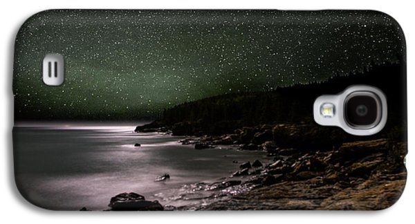 Maine Mountains Galaxy S4 Cases - Lunar Eclipse over Great Head Galaxy S4 Case by Brent L Ander