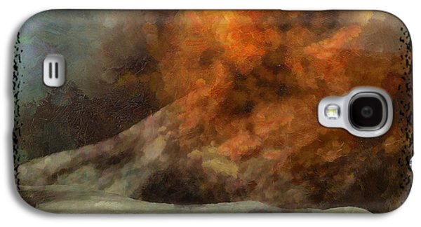 Surreal Landscape Galaxy S4 Cases - Lunar Eruption Galaxy S4 Case by Mario Carini