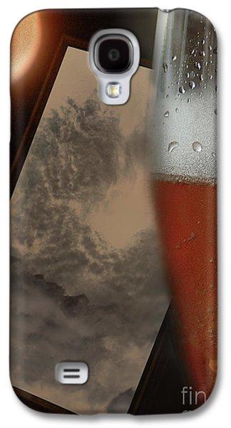 Vicki Ferrari Photography Photographs Galaxy S4 Cases - Lunar Moon Fizz Frame 3 Galaxy S4 Case by Vicki Ferrari