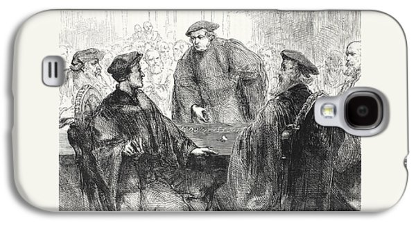 Luther And Zwingle Discussing At Marburg Galaxy S4 Case by English School