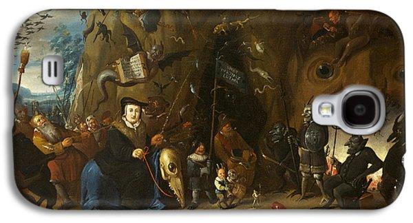 Christian work Paintings Galaxy S4 Cases - Luther in Hell Galaxy S4 Case by Egbert van Heemskerck II
