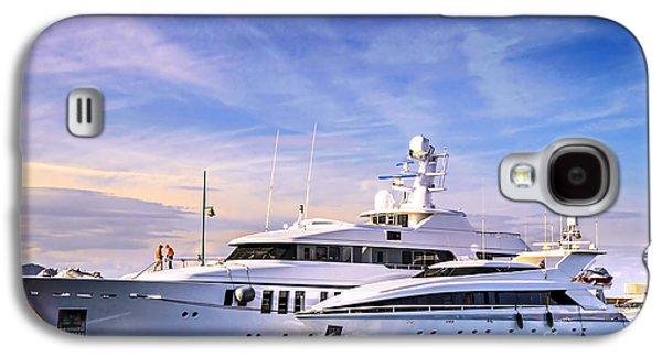 Yacht Galaxy S4 Cases - Luxury yachts Galaxy S4 Case by Elena Elisseeva
