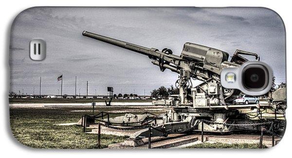 Transportation Photographs Galaxy S4 Cases - M1A 120mm Skysweeper Antiaircraft Gun  Galaxy S4 Case by Debra Forand