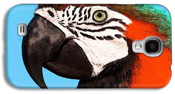 Macaw Bird - Rain Forest Royalty Galaxy S4 Case by Sharon Cummings