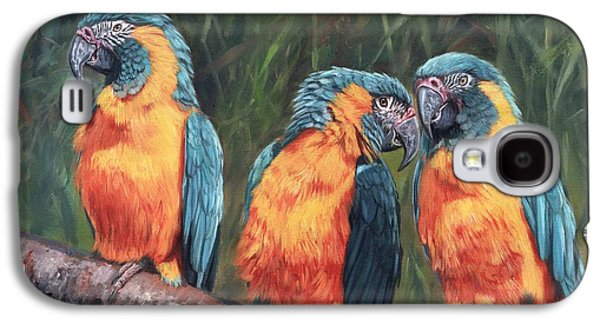 Macaws Galaxy S4 Case by David Stribbling