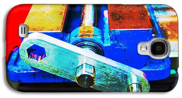 Mechanism Galaxy S4 Cases - Machine Shop Grunge 3 Galaxy S4 Case by Darrell Hutto