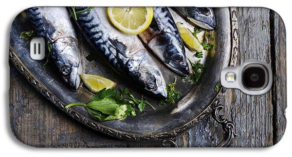 Mackerels On Silver Plate Galaxy S4 Case by Jelena Jovanovic