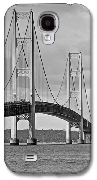 Beach Landscape Galaxy S4 Cases - Mackinac Bridge 6111 Galaxy S4 Case by Michael Peychich