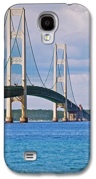 Strong America Galaxy S4 Cases - Mackinac Bridge Galaxy S4 Case by Michael Peychich