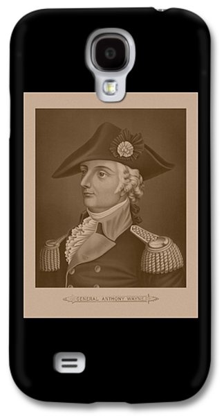Revolutionary War Mixed Media Galaxy S4 Cases - Mad Anthony Wayne Galaxy S4 Case by War Is Hell Store