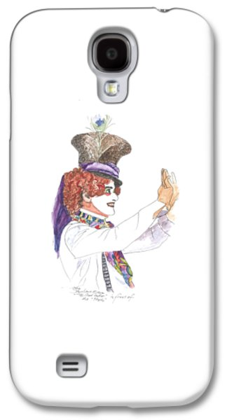 Mad Hatter Paintings Galaxy S4 Cases - Mad Hatter Galaxy S4 Case by Petra Stephens