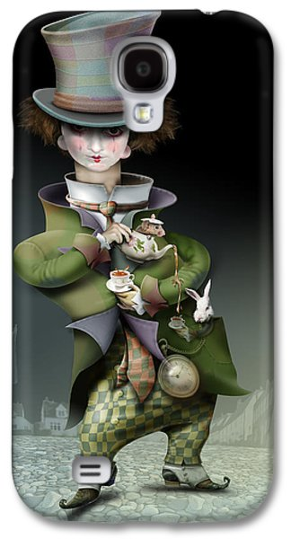 Mad Hatter Paintings Galaxy S4 Cases - Mad Hatter Galaxy S4 Case by Russel Ball