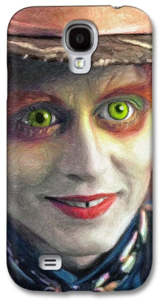 Mad Hatter Paintings Galaxy S4 Cases - Mad Hatter Galaxy S4 Case by Taylan Soyturk
