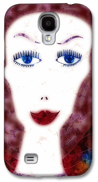 Drip Paintings Galaxy S4 Cases - Mademoiselle Galaxy S4 Case by Frank Tschakert