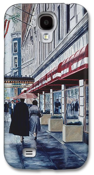 Store Fronts Paintings Galaxy S4 Cases - Madison Avenue Galaxy S4 Case by Anthony Butera