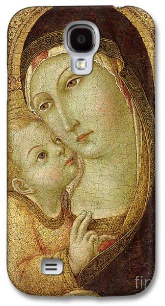 Child Jesus Galaxy S4 Cases - Madonna and Child Galaxy S4 Case by Ansano di Pietro di Mencio