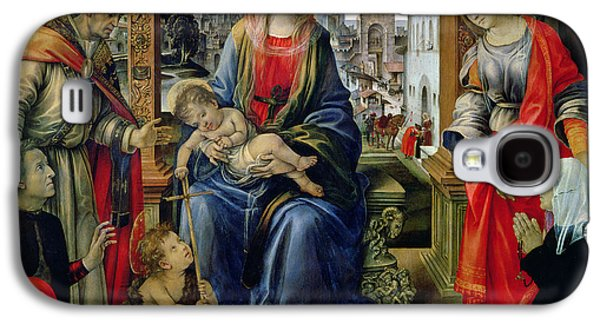 Baptist Paintings Galaxy S4 Cases - Madonna and Child Galaxy S4 Case by Filippino Lippi