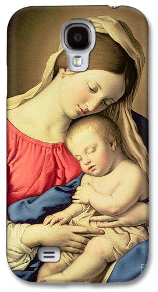 Child Jesus Galaxy S4 Cases - Madonna and Child Galaxy S4 Case by Il Sassoferrato