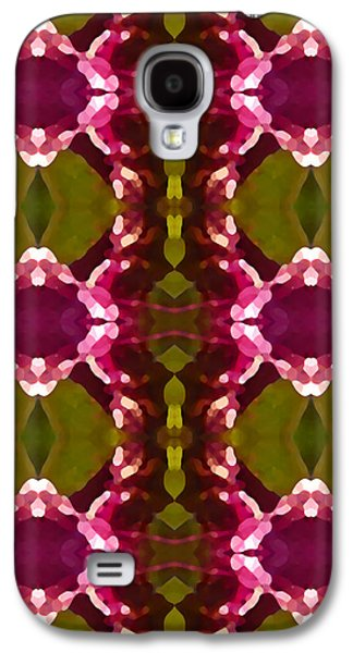 Abstract Digital Galaxy S4 Cases - Magenta Crystal Pattern Galaxy S4 Case by Amy Vangsgard