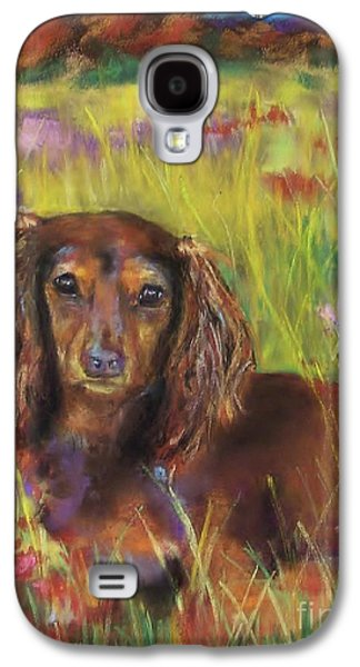 Dogs Pastels Galaxy S4 Cases - Maggie Galaxy S4 Case by Frances Marino