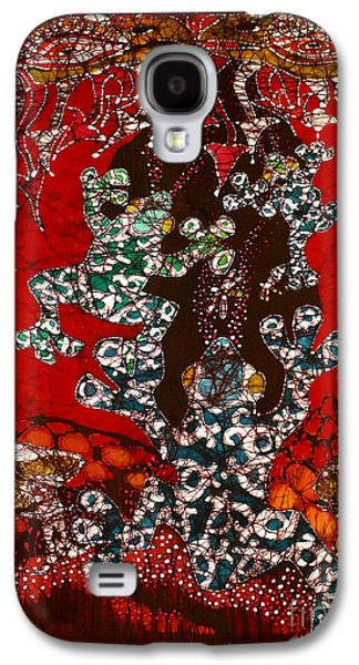 Fantasy Tapestries - Textiles Galaxy S4 Cases - Magic Frogs Rising Galaxy S4 Case by Carol Law Conklin