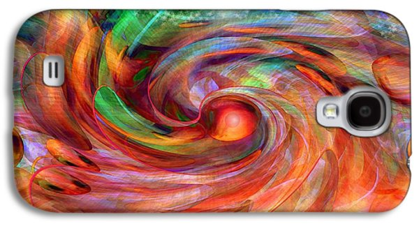 Abstract Expression Galaxy S4 Cases - Magical Energy Galaxy S4 Case by Linda Sannuti