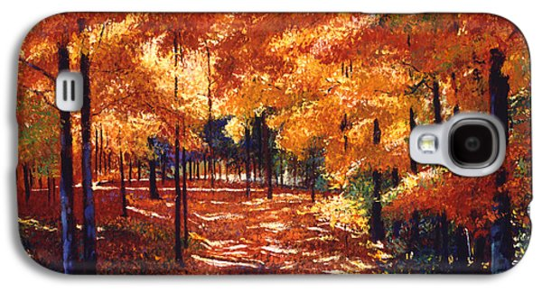 Autumn Leaf Galaxy S4 Cases - Magical Forest Galaxy S4 Case by David Lloyd Glover