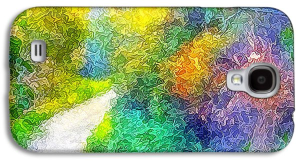 Mystical Landscape Mixed Media Galaxy S4 Cases - Magical Garden Passion Pathway Galaxy S4 Case by Joel Bruce Wallach