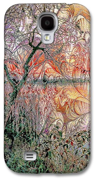 Sunset Abstract Galaxy S4 Cases - Magical Lake View Galaxy S4 Case by Ian Gledhill