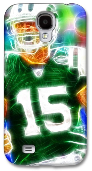 Tebowing Galaxy S4 Cases - Magical Tim Tebow Galaxy S4 Case by Paul Van Scott