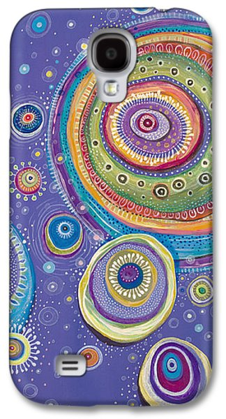 Cosmos Paintings Galaxy S4 Cases - Magnetic Galaxy S4 Case by Tanielle Childers