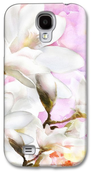 Mix Medium Galaxy S4 Cases - Magnolias Galaxy S4 Case by Shanina Conway