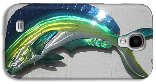 Modern Abstract Sculptures Galaxy S4 Cases - Mahi Mahi metal wall decor Galaxy S4 Case by Robert Blackwell