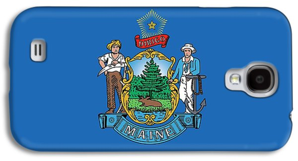 Maine State Flag Galaxy S4 Case by American School