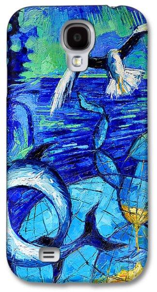Majestic Bleu Galaxy S4 Case by Mona Edulesco