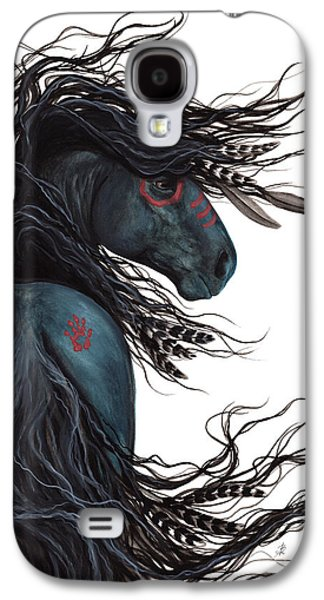 Inspired Paintings Galaxy S4 Cases - Majestic Horse Friesian 135 Galaxy S4 Case by AmyLyn Bihrle