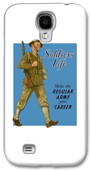 Army Digital Art Galaxy S4 Cases - Make The Regular Army Your Career Galaxy S4 Case by War Is Hell Store