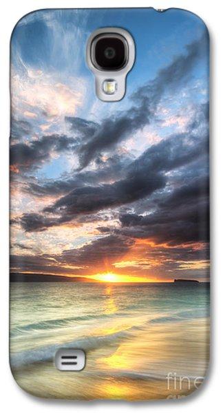 Amazing Sunset Galaxy S4 Cases - Makena Beach Maui Hawaii Sunset Galaxy S4 Case by Dustin K Ryan