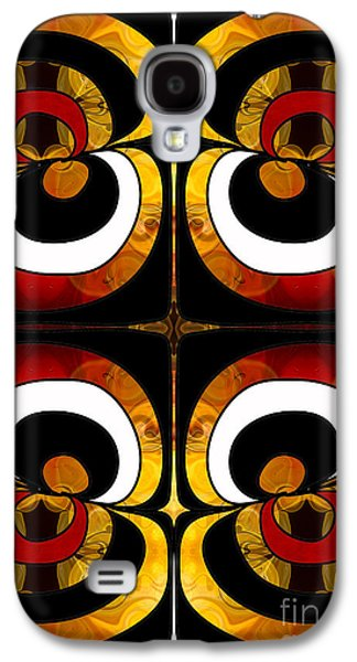 Earth Tones Drawings Galaxy S4 Cases - Making Eyes of Abstract Bliss by Omashte Galaxy S4 Case by Omaste Witkowski